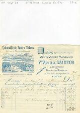 Dépt 37 - Tours 32 Rue J Charpentier - Superbe Entête d'une Quincaillerie 1901