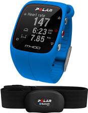 Polar M400 Blue with HR Integrated GPS Running Watch Activity Tracking