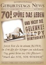 Glückwunschkarte zum 70.Geburtstag-s-News*Hund*Zeitung Grußkarte mit Humor