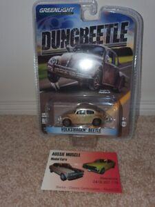 "1:64 Greenlight Volkswagen Beetle ""Dungbeetle"" Azn Farmtruck Street Outlaws OKC"