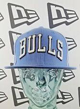 New Era NBA Chicago Bulls Snapback Hat - UNC Blue Black & White