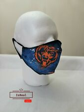 Chicago Bears Face Mask  100 cotton fabric,  beautiful design  FAST shipping