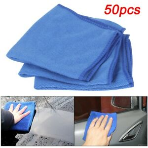 50PCS Large Microfibre Cloths Car Cleaning Cloth Detailing Towels Washing Duster
