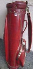 HANDSOME 1970'S Vintage HOT Z Leather GOLF BAG in Great Shape!