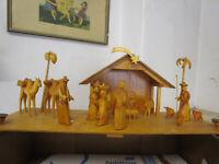 Große Krippe Stall Christi Geburt Kamel Karawane Deutschneudorf Erzgebirge 70er