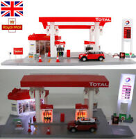 1:64 Sound & Light Car GAS Petrol Service Station Tanker Truck Kids Toys Playset