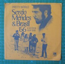 Sergio Mendes Brasil 66 Pretty World & Festa Hole Punch 45 & Picture Sleeve