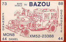 CARTE RADIO AMATEUR<MONTREAL  BAZOU MONO8