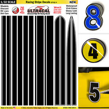 1/32 Slot Car decals Model Waterslide  IMPROVEMENT Racing Stripes #4 FLY SLOT IT