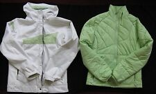 Columbia Girl's Double Coat Size 18-20 White Light Green
