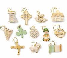 Lenox Luck of the Irish 12 Piece Miniature Tree Ornaments (No Tree) NEW Boxed