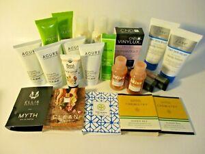 22 skincare hair care makeup perfume samples Bliss Dove Weleda CND Garnier Acure