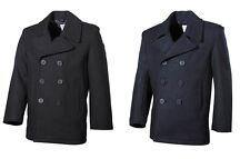 US Pea Coat Navy Marine Jacke Blazer Marinemantel Seemannsjacke Max Fuchs (MFH)