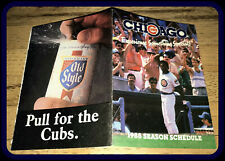 1988 CHICAGO CUBS OLD STYLE BEER BASEBALL POCKET SCHEDULE NMMT CONDITION