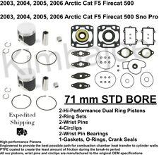 Full Gasket Set and Crank Seals Firecat 600 2004 2005 2006 2007 Arctic Cat F6