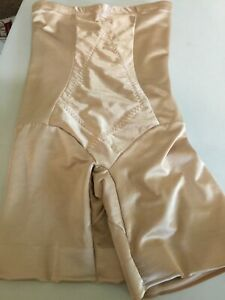 CUPID HI-WAIST THIGH SLIMMER shapewear  EXTRA FIRM Beige Sz Large #5359