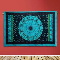 Horoscope Astrology Indian Zodiac Wall Hanging Tapestry Hippie Twin Bedspread