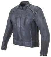 GIACCA JACKET LEATHER MOTO LEM SCRAMBLER VINTAGE PELLE LEATHER NERO BLACK TG M