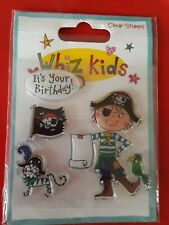 WHIZ KIDS Clear Stamps Set ~ PIRATE (4pcs)