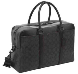 ❤️NWT COACH Trekker Carryall tote 77868 signature Briefcase Laptop shoulder bag
