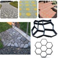 Garden Path Maker Cement Mold Mould DIY Stone Brick Paver Slab Pavement Patio
