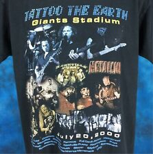 New listing vintage 2000 Tattoo The Earth Metallica Concert T-Shirt Large slayer metal rock