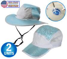 2 Polar Hydro Evaporative Cooling Hat UV Reflective Protection Bucket Solar Cap