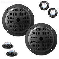 Pyle 4 Inch Dual Cone Waterproof Stereo Speakers System Car Subwoofer Power Pair