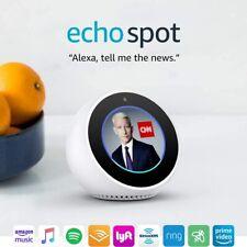 Echo Spot - Smart Alarm Clock with Alexa - White - FACTORY SEALED