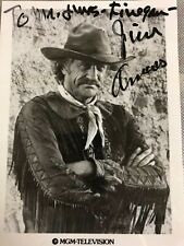 Autographed James Arness photo personalized signed