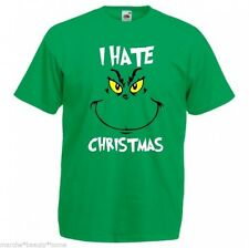 GRINCH hate xmas funny t-shirt mens unisex green top Dr seuss humour L new fotl