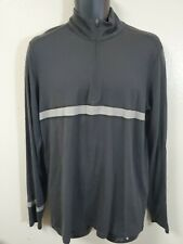 Ibex Merino Wool Black gray 1/4 zip pullover sweater - Mens Large