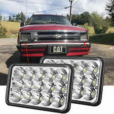 "4X6"" LED Headlights Light Bulbs Crystal Clear Hi Low Sealed Beam Headlamp Bright"