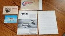 New ListingLot Of 1950'S Piper Aircraft, Sikorsky & Other Advertising Materials
