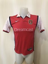 BOYS Arsenal London 1999/2000 Home L Nike football soccer shirt jersey maillot