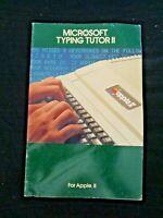 Vintage Green 1982 Microsoft Typing Tutor II for Apple II Manual Computer Guide
