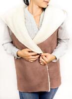 Sheepskin Coat Winter Vest Jacket Sleeveless Super Warm Sheep Wool Soft Womens