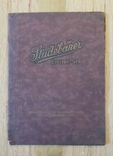 1923 Studebaker Light Six Sales Catalog