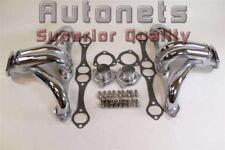Chrome Steel Chevy SBC Hugger Headers 265 283 305 307 327 350 Impala Hot Rat Rod