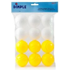 Dimple Plastic Pitching Balls for use w/Dimple Pitching Machine(12 balls)Dc12357