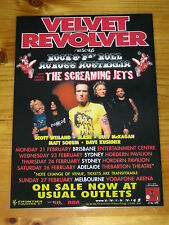 VELVET REVOLVER - SLASH - 2005 Australian Tour - Laminated Poster - GUNS N ROSES