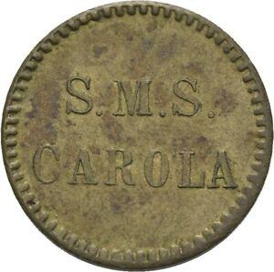 Savoca Coins Kaiserreich S.M.S. Carola Deckoffiziersmesse 10 Pfennig RR=RRF67608