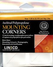 Lineco Acid Free Corners 256 pcs., Size: 1.25 in. Mount photos EZ  (bin606 -A)