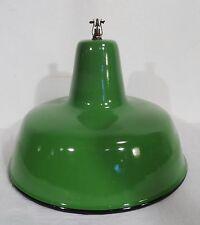 Antike grüne emaillierte Decken Leuchte Industrie Design Bauhaus Art Deco ~ 1920