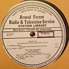 RADIO SHOW: AFN 20-7 PERRY COMO, PEGGY LEE, GARY BURTON, LOS INDIOS TABAJARAS
