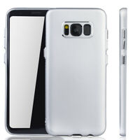Samsung Galaxy S8 Hülle Case Handy Cover Schutz Tasche Schutzhülle Bumper Silber