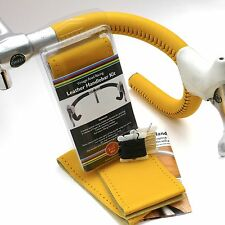 NEW Velobitz Vintage Yellow Leather Handlebar Cover Kit, Wax Thread & Needles