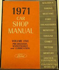 OEM 1971 Ford Car Shop Manual - Volume Five - P/N 7098-71-5