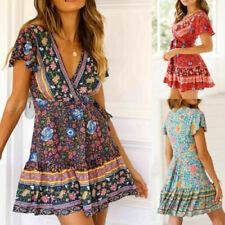 Robes avec des motifs multicolores Floral pour femme