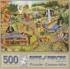 "Hiking In The Park by Sandy Rusinko 500 Piece Puzzle 18"" x 24"""